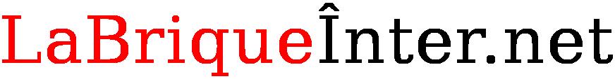 Texte La Brique Inter.net, en noir sur fond blanc, avec un i accent circonflexe majuscule.