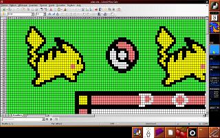 Détail sur un pikachu, tiré de l'écran du jeu