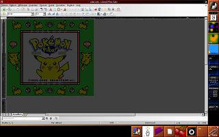 L'écran du jeu GameBoy Pokémon Jaune