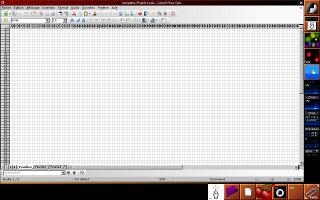 Libre Office Calc avec les cellules redimensionnées
