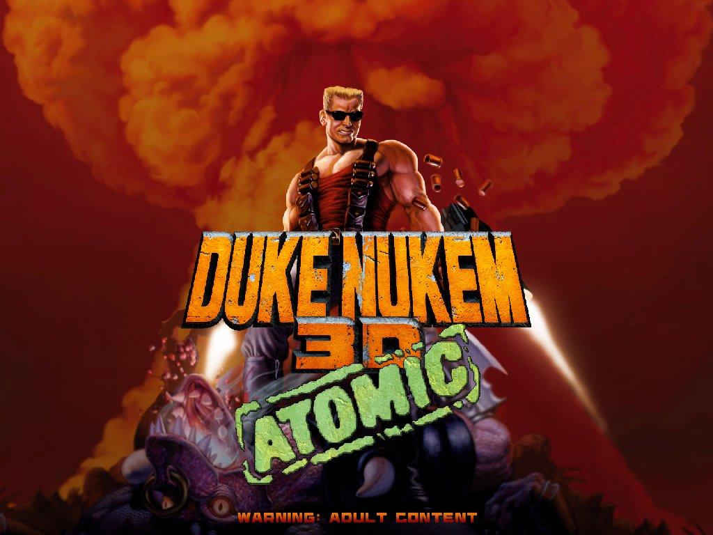 Écran titre du jeu Duke Nukem 3D, en version haute définition.