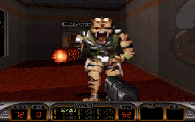 Capture d'écran du jeu sous Dosbox.