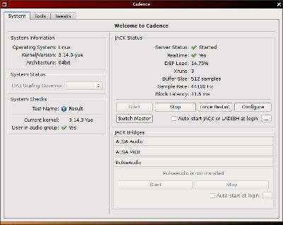 Capture d'écran de l'application Cadence.