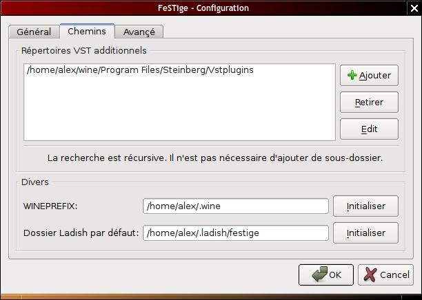 Configuration de FeSTige