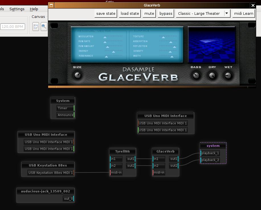 GlaceVerb est connecté entre le Tyrell et la carte son