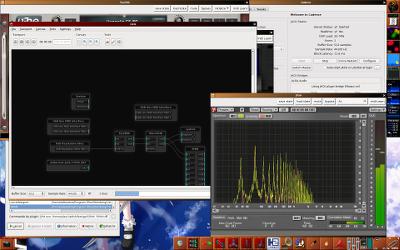 Capture d'écran du bureau montrant Span, Catia, Cadence et le Tyrell