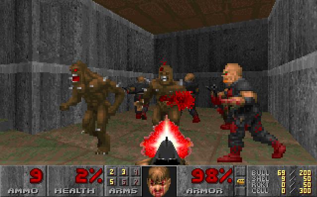 Capture d'écran du jeu Doom