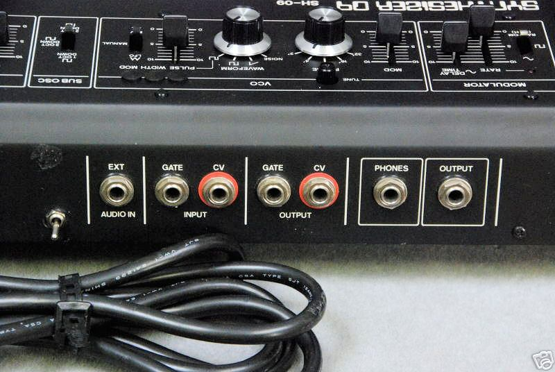 Connectique sur un Roland SH-09