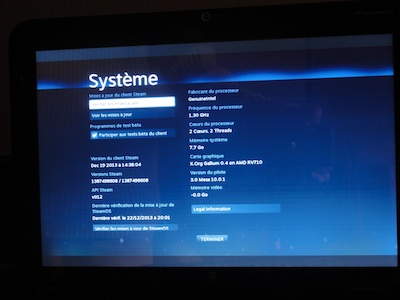 Et voilà, SteamOS avec une radeon. C'était pas si compliqué.